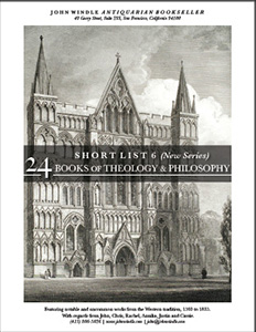 Short List 6 (New Series): 24 Books of Theology and Religion