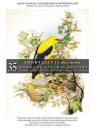 Short List 14: (New Series) 35 Works of Natural History