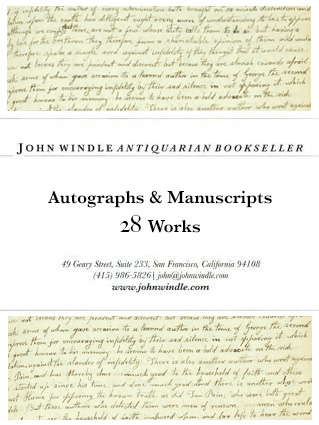 28 Autographs & Manuscripts