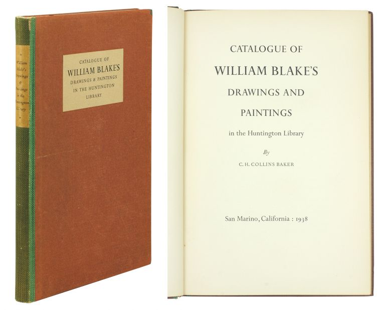 Catalogue of William Blake's Drawings and Paintings in the Huntington Library. C. H. Baker.