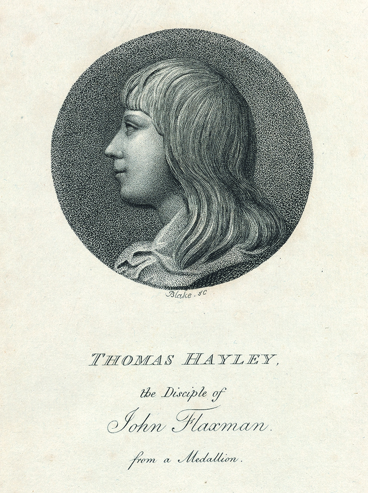 """Third plate """"Thomas Hayley"""" in: An Essay on Sculpture: In a Series of Epistles to John Flaxman. William Hayley, separate plate."""