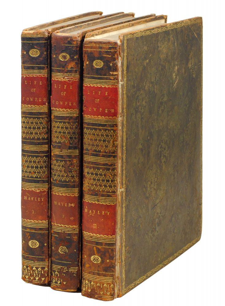 The Life, and Posthumous Writings of William Cowper, Esq. With an Introductory Letter to the Right Honourable Earl Cowper. William. Blake Hayley, William.