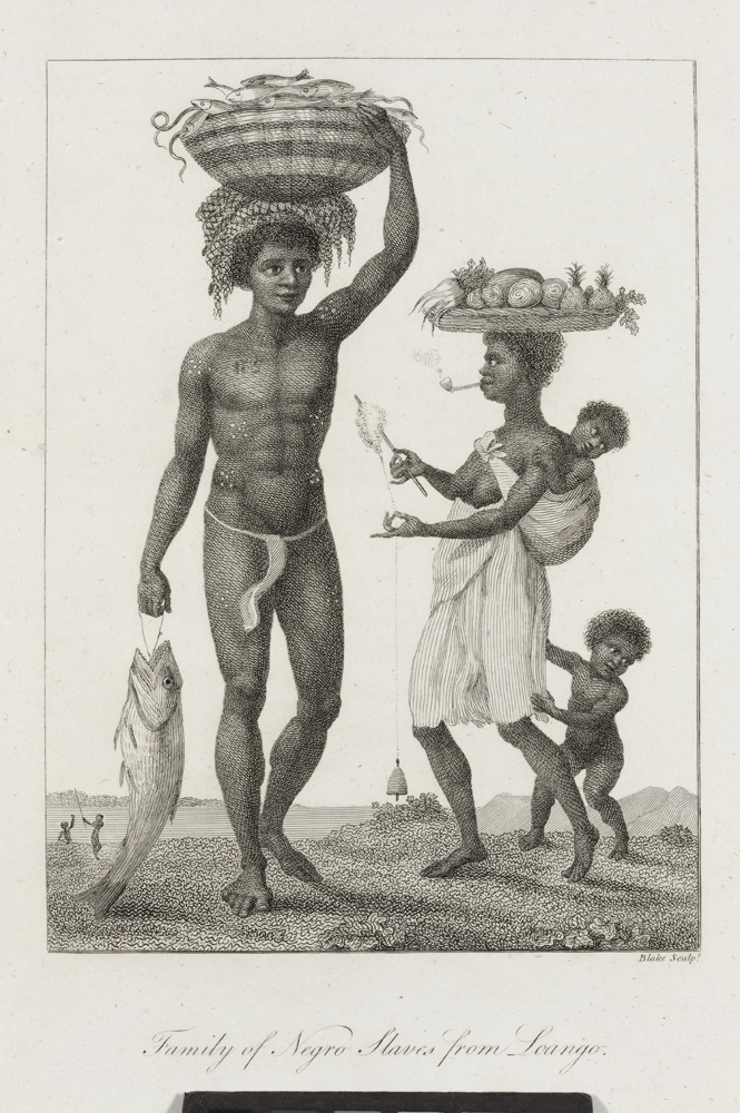 Narrative, of a Five Years' Expedition, against the revolted Negroes of Surinam… Family of Negro Slaves from Loango. John Gabriel. Blake Stedman, William.