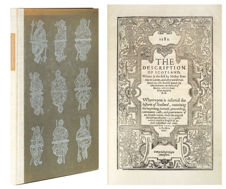 The Book called Holinshed's Chronicles. An Account of its Inception, Purpose, Contributors, Contents, Publication, Revision and Influence on William Shakespeare by Stephen Booth with a Leaf from the 1587 edition. Leaf Book, Stephen Booth.