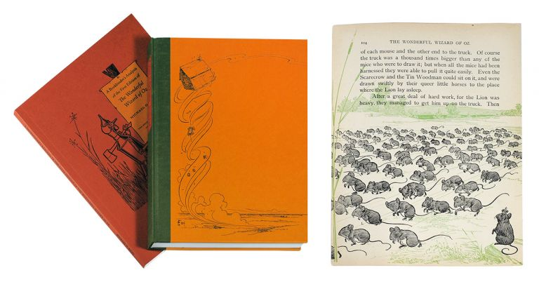 Cyclone on the Prairies: The Wonderful Wizard of Oz and Arts and Crafts of Publishing in Chicago, 1900 [with] A Bookbinder's Analysis of the First Edition of the Wonderful Wizard of Oz. Leaf Book, Frank Baum, Peter E. Hanff, Michael Riley.