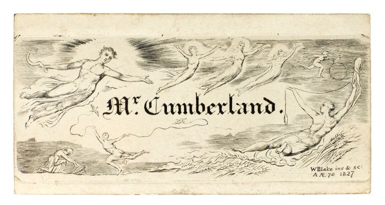 """""""Calling Card"""" (sometimes called a bookplate) for George Cumberland. William Blake."""
