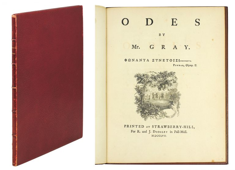 Odes by Mr. Gray. Thomas Gray.