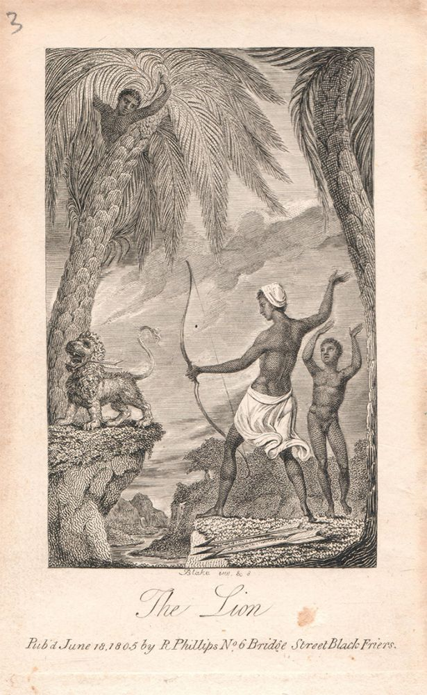 A single plate from: Ballads. Founded on Anecdotes Relating to Animals, with Prints Designed and Engraved by William Blake. William. Hayley Blake, William.