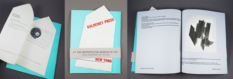 The Kaldewey press at the Metropolitan museum of art: artist books of the Kaldewey press: exhibition held at the Thomas J. Watson library, Metropolitan museum of art, New York, September 6-December 2, 1988. Antoine. Kaldewey Coron, Gunnar.