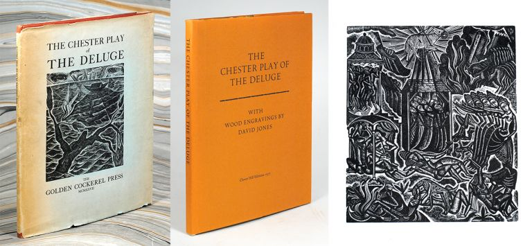 The Chester Play of the Deluge. [Two editions, with unique and very rare added material]. Golden Cockerel Press, J. Isaacs, David Jones.