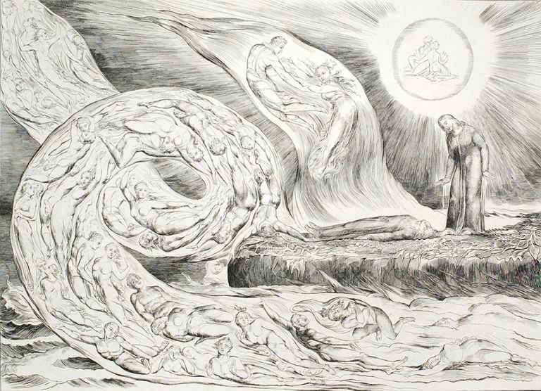 Illustrations to Dante's Inferno. William Blake.