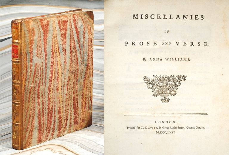 Miscellanies in Prose and Verse. Anna Williams.