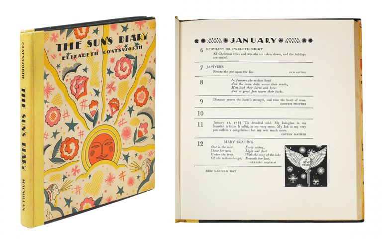 The Sun's Diary: A Book of Days For Any Year... Decorated by Frank McIntosh. Elizabeth Coatsworth.