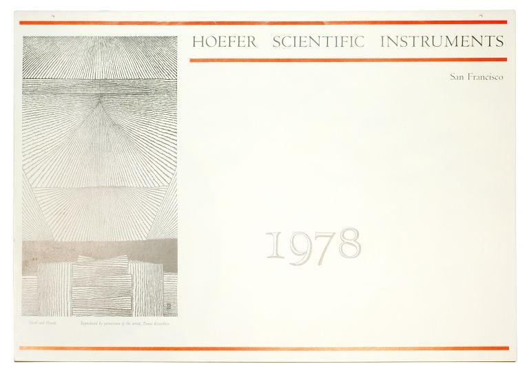 Hoefer Scientific Instruments 1978. [Calendar]. Two Windows Press, Eric . Dickey Coates, Don, William . Gray, layout, calligraphy, typography.