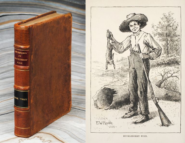 The Adventures of Huckleberry Finn (Tom Sawyer's Comrade)...by Mark Twain. With One Hundred and Seventy-Four Illustrations. Samuel Clemens.