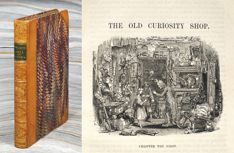 The Old Curiosity Shop. A Tale...With Illustrations By George Cattermole and Hablot K. Browne. Complete in One Volume. Charles Dickens.