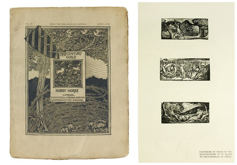 Reproduction of Three of Blake's Woodcuts from Thornton's Virgil, Facsimilied by William Muir in The Century Guild Hobby Horse No. 11. William. Virgil Blake.