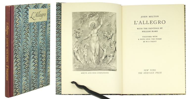 L'Allegro… Together with A Note upon the Poems by W. P. Trent. Il Penseroso…. Together with a Note upon the Paintings by Chauncey Brewster Tinker. John Milton.