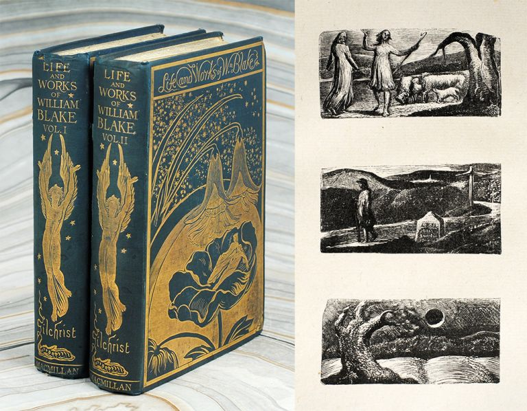 Life of William Blake. With Selections from his Poems and Other Writings. A New and Enlarged Edition illustrated from Blake's own Works. With additional Letters and a Memoir of the Author. Alexander Gilchrist.
