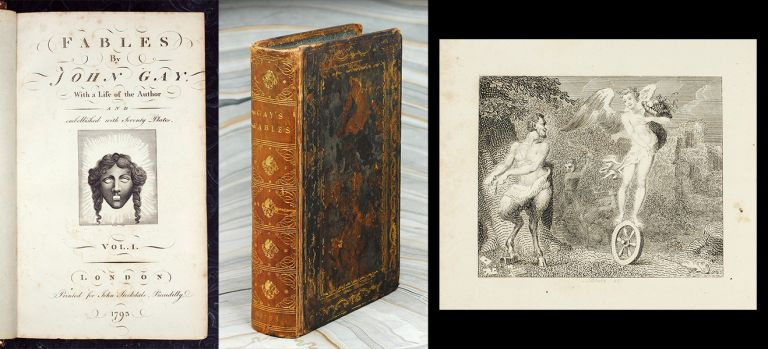 Fables. With a life of the Author and embellished with 70 Plates. William. Gay Blake, John.