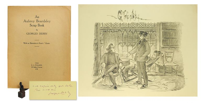 "An Aubrey Beardsley Scrapbook. With an Illustration to Ibsen's ""Ghosts"". Aubrey. Derry Beardsley, Georges."
