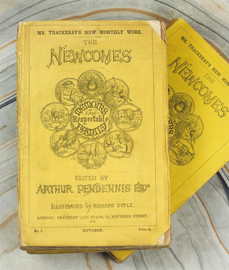 The Newcomes. Memoirs of a Most Respectable Family. Edited by Arthur Pendennis Esqre. Illustrated by Richard Doyle. William Makepeace Thackeray.