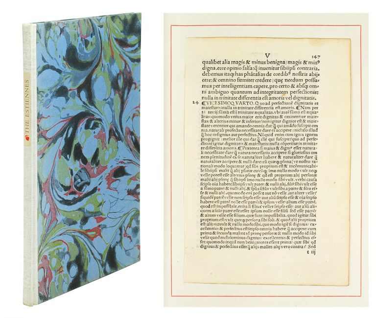 The Estiennes. A Biographical Essay by Mark Pattison illustrated with original leaves from books printed by the three greatest members of that distinguished family. Leaf Book.