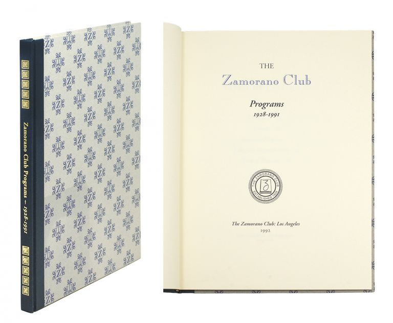 Zamorano Club Programs 1928- 1991.
