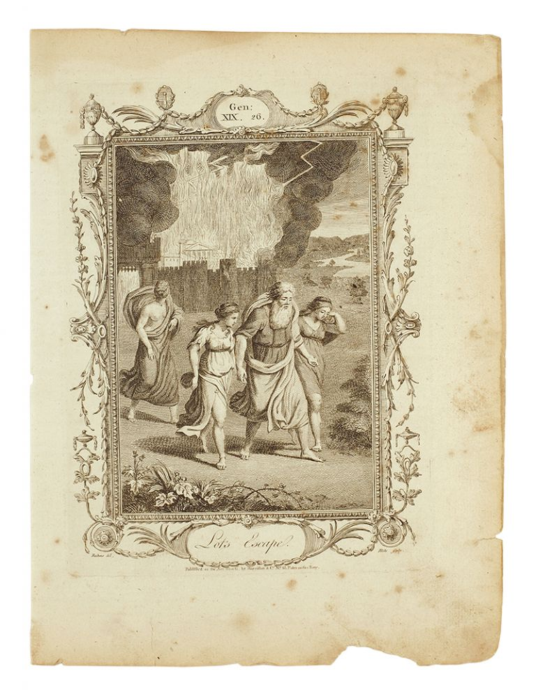 Lots Escape (in) The Protestant's Family Bible. Containing the Old and New Testament, with the Apocrypha, illustrated by explanatory Notes. With a compleat Concordance, and general Index. By a Society of Protestant Divines. William Blake.