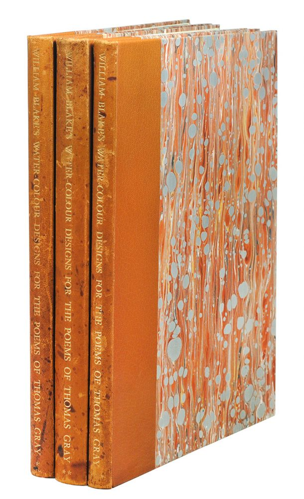 Water-Colour Designs For The Poems Of Thomas Gray. A Facsimile with Introduction and Commentary by Sir Geoffrey Keynes. William Blake, Trianon Press.