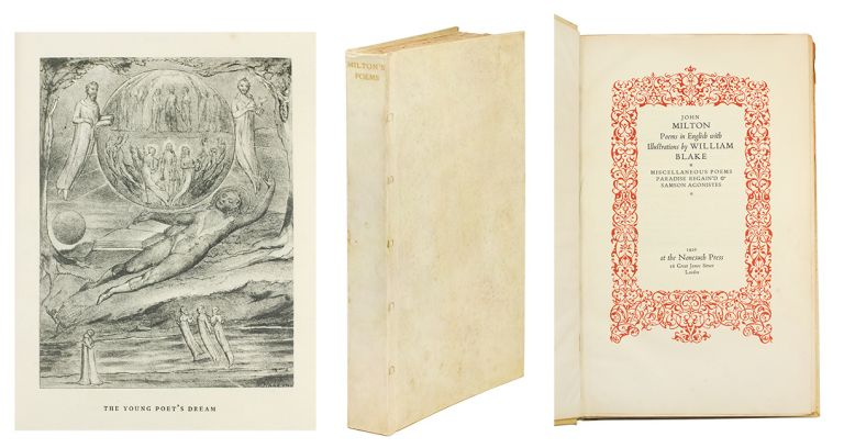 Poems in English with Illustrations by William Blake. Paradise Lost. Miscellaneous Poems. Paradise Regained and Samson Agonistes. William. Milton Blake, John.