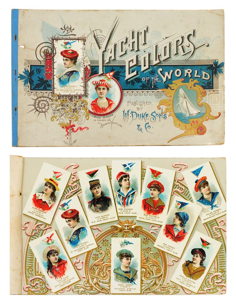 Yacht Colors of the World/Musical Instruments of the World/Fancy Dress Ball Costumes. Cigarette Cards, W. Duke, Sons, Co.