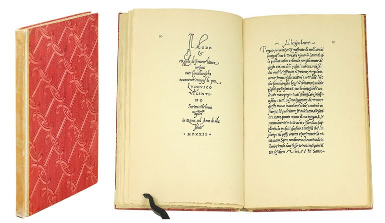 The Calligraphic Models of Ludovico Degli Arrighi Surnamed Vicentino. A Complete Facsimile and Introduction by Stanley Morison. Officina Bodoni, Arrighi, Stanley Morison, introduction.