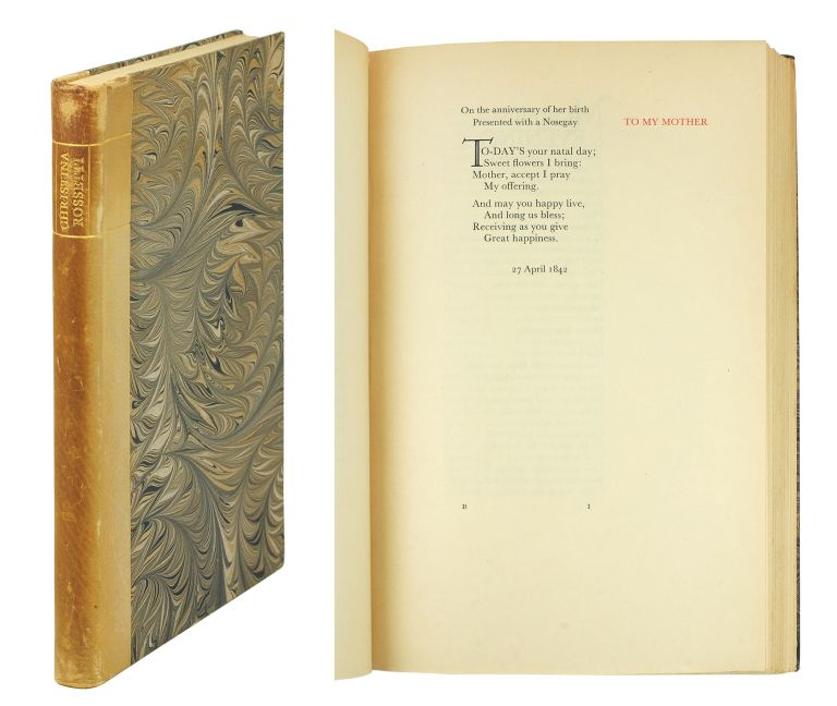 Poems. Chosen by Walter de la Mare. Christina. Gregynog Press Rossetti.