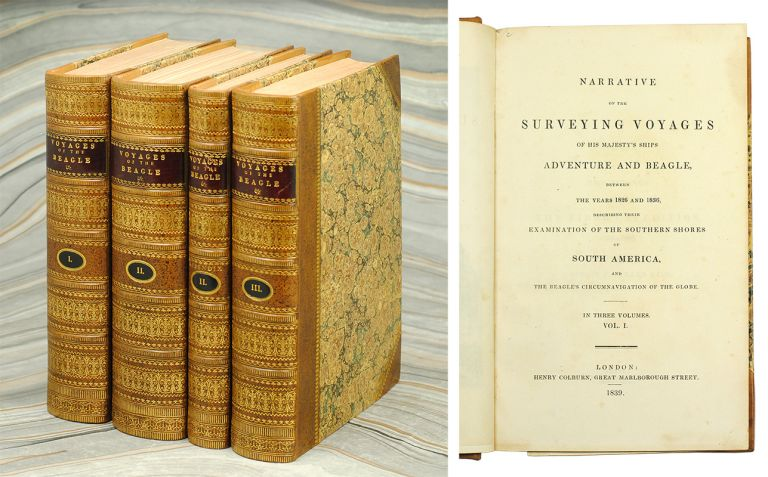 Narrative of the Surveying Voyages of His Majesty's Ships Adventure and Beagle, between the Years 1826 and 1836, Describing their Examination of the Southern Shores of the South America, and the Beagle's Circumnavigation of the Globe. Charles. Fitzroy Darwin, Robert, Philip Barker King.