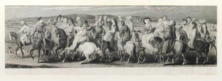 Chaucer's Canterbury Pilgrims. Etched by Lewis Schiavonetti and finished by James Heath. Thomas Stothard.