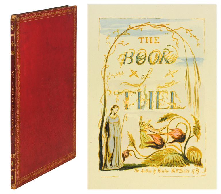 The Book of Thel. William Blake, Muir Facsimile.