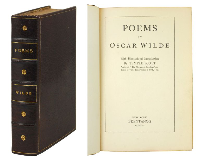 Poems. Biographical Introduction by Temple Scott. Oscar Wilde.