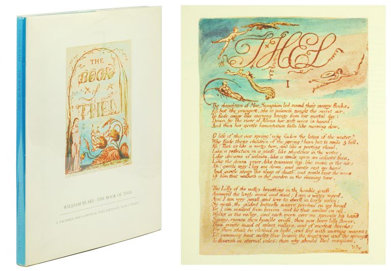 The Book of Thel. A Facsimile and a Critical Text Edited by Nancy Bogen. William Blake.