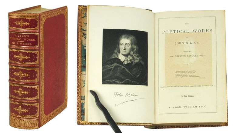 The Poetical Works... edited by Sir Egerton Brydges, Bart. Illustrated with Engravings from drawings by J.M.W. Turner, R.A. John Milton.