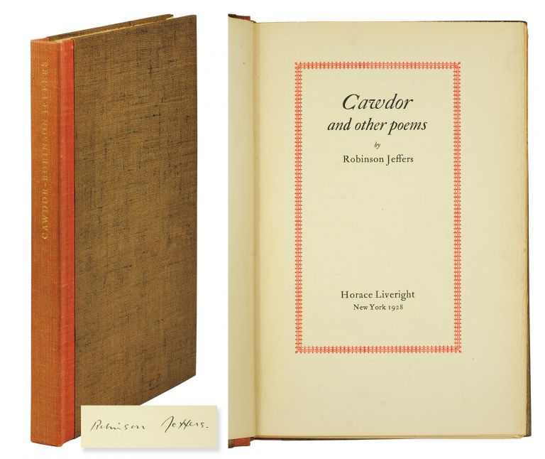 Cawdor and Other Poems. Robinson Jeffers.