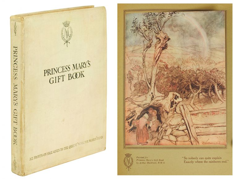 """Princess Mary's Gift Book. All profits from sale are given to The Queen's """"Work for Women"""" Fund which is acting in conjunction with The National Relief Fund. Arthur Rackham."""