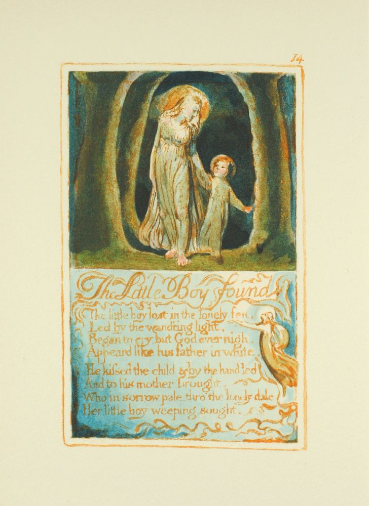Songs of Innocence and of Experience, Plate 14: Little Boy Found. William Blake.