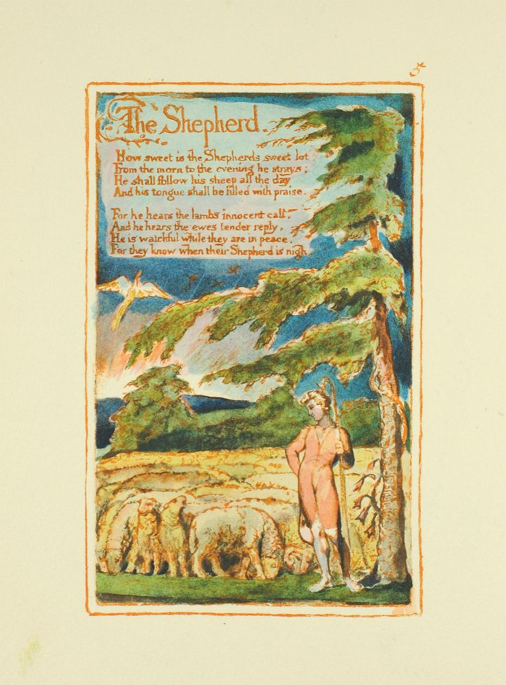 Songs of Innocence and of Experience, Plate 5: The Shepherd. William Blake.