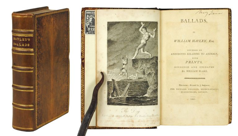 Ballads, Founded on Anecdotes Relating to Animals, with Prints designed and Engraved by William Blake. William Hayley, Salomon Gessner.
