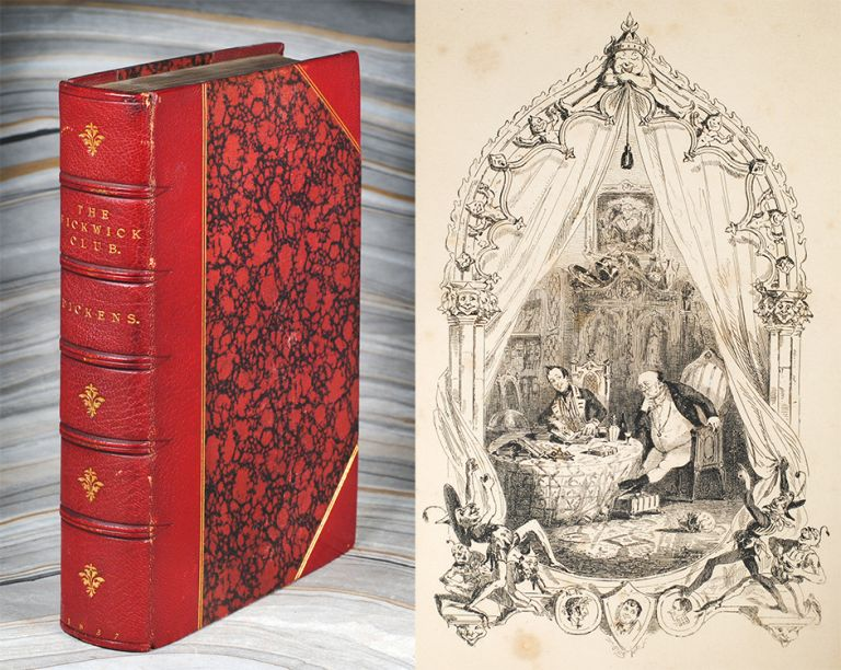 The Posthumous Papers of the Pickwick Club. With Forty-Three Illustrations, by R. Seymour and Phiz. Charles Dickens.