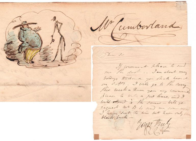 A.L.s. to Mr. Cumberland. Robert Cruikshank.