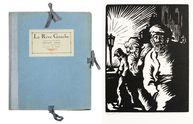 La Rive Gauche. A Group of Woodcuts and Drawings by Howard Simon with an Introduction by Elliot H. Paul. Elliot H. Paul.