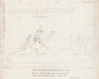 "Second plate ""Death of Demosthenes"" in: An Essay on Sculpture: In a Series of Epistles to..."