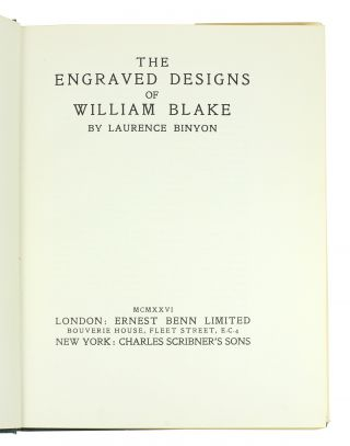 The Engraved Designs of William Blake.